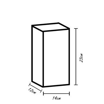 Arandela Cristal K9 Transparente 14x23cm G9 1004-T