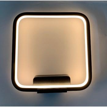 Arandela Led Linha 15W Preta Luz Branco Quente (3000K) Lc03P