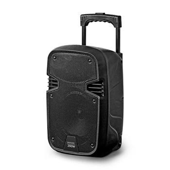 Caixa de Som Amplificadora Bluetooh Multilaser 200W RMS Driver 8 Pol com Microfone e Adaptador Guitarra SP329