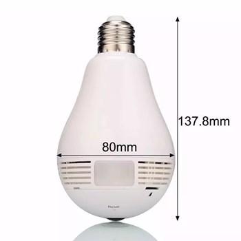 Câmera Lâmpada Espiã Ip Panorâmica 360º Wi-Fi Hd 720P com Microfone Luatek Lkw 5513