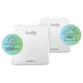 Conjunto Roteador Intelbras Twibi Wifi Mesh Giga 2 Unidades 360m2