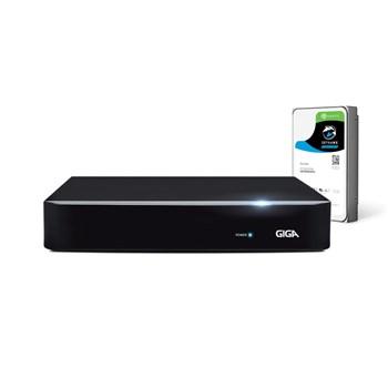 DVR 4 Canais Full HD 1080p Giga Security Serie Orion GS0184 Detecção de Pessoas com HD 1TB SkyHaw