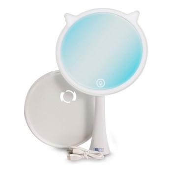 Espelho de Maquiagem Luz Led Touch Screen Flexível Ring Face
