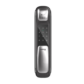 Fechadura Digital com Biometria Intelbras FR630 Push & Pull
