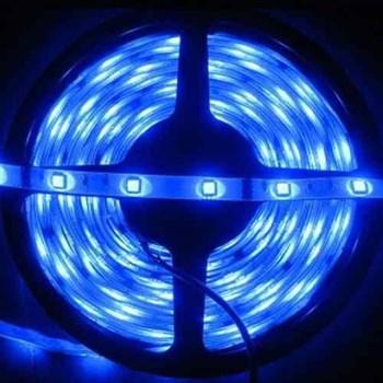 Fita LED Adesiva Azul Bivolt Rolo com 5m + Fonte 12V