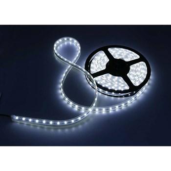 Fita LED Adesiva Branco Frio Bivolt Rolo com 5m + Fonte 12V