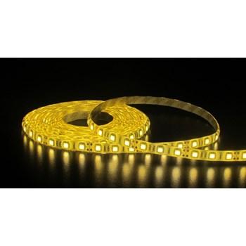 Fita LED Adesiva Branco Quente Bivolt Rolo c/ 5m + Fonte 12V