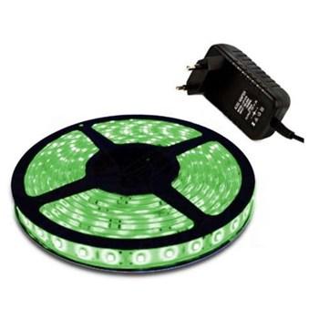 Fita LED Adesiva Verde Bivolt Rolo com 5m + Fonte 12V