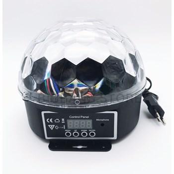 Globo Mágico Led de Cristal Bluetooth Mp3 Bivolt 9 Cores Luatek Lk 306