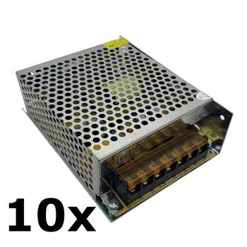 Kit 10 Fonte Chaveada 12V 10A 120W Colméia Estabilizada Bivolt CFTV