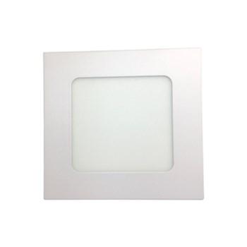 Kit 10 Luminária Led Painel Plafon Embutir 12W Quadrado 17X17cm Branco Quente