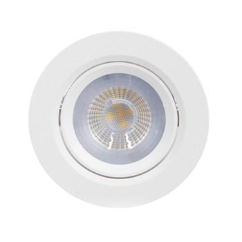 Kit 10 Spot LED Embutir 5W Direcionavel Redondo Branco Quente