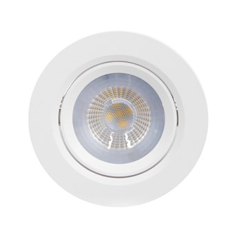Kit 10 Spot LED Embutir 7W Direcionavel Redondo Branco Quente