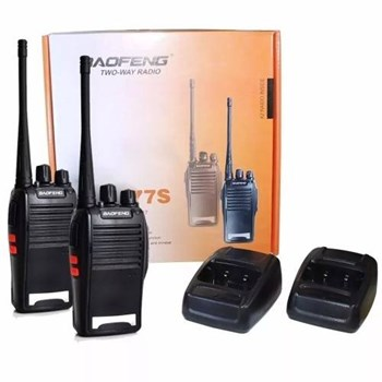 Kit 2 Radios comunicadores Walk Talk Baofeng Bf -777 S Fone