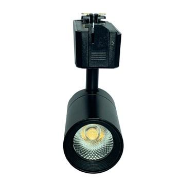 Kit 3 Spot LED para Trilho 10W Branco Frio Bivolt Preto Initial