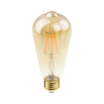 Kit 5 Lâmpada Filamento LED Retrô Vintage 4W ST58 Âmbar 2300k Bivolt
