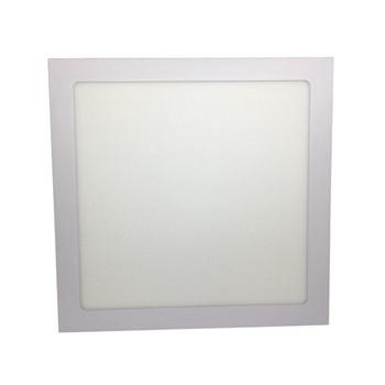 Kit 7 Luminária Led Painel Plafon Embutir 25W Quadrado 30X30cm Branco Frio
