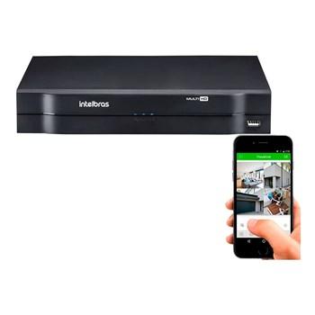 Kit CFTV 16 Câmeras HD 720P Infravermelho 20 metros DVR Intelbras MHDX 1116 + Acessórios