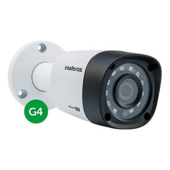 Kit CFTV Intelbras 4 Câmeras FULL HD1080P VHD 1220 B Infravermelho 20 metros DVR MHDX 3104 HD 1TB de Armazenamento + Acessórios