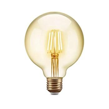 Lâmpada Filamento LED Retrô Vintage 6W G80 Âmbar 2300k Bivolt 8G