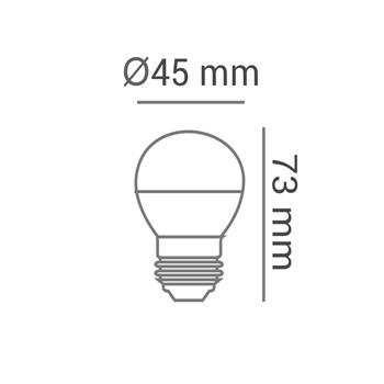 Lâmpada LED Bolinha Colorida 1W E27 127V Laranja