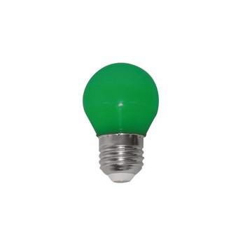Lâmpada LED Bolinha Colorida 1W E27 127V Verde