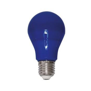 Lâmpada LED Bulbo Colorida 6W A60 Bivolt E27 Azul