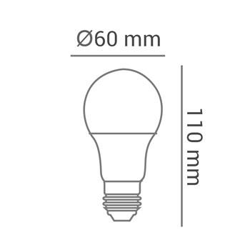 Lâmpada LED Bulbo Colorida 6W A60 Bivolt E27 Laranja
