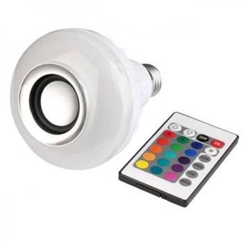 Lâmpada LED Bulbo RGB 12W Colorida com Áudio Bluetooth Bivolt com Controle Remoto