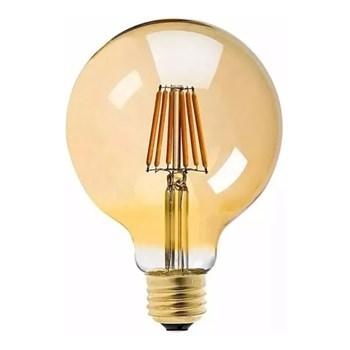 Lâmpada LED Filamentro Retrô Bulbo G125 Luz Âmbar 13,8cm E27
