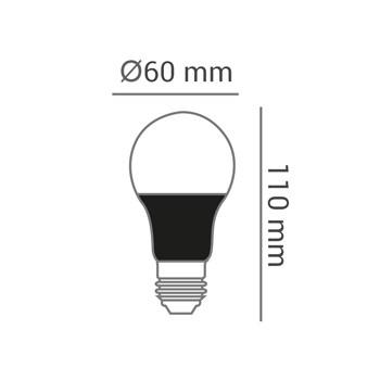 Lâmpada LED Luz Negra 9W Bulbo A60 E27 Bivolt