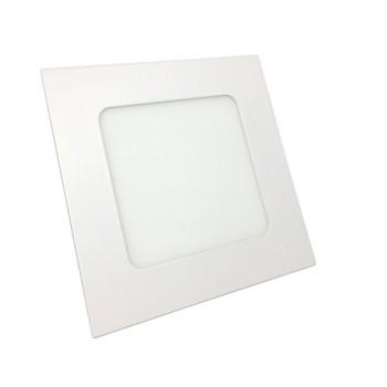 Luminária Led Painel Plafon Embutir 12W Quadrado 17x17cm Branco Frio
