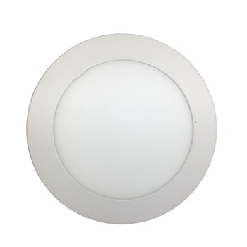Luminária Led Painel Plafon Embutir 12W Redondo 17cm Branco Frio