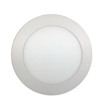 Luminária Led Painel Plafon Embutir 12W Redondo 17cm Branco Quente