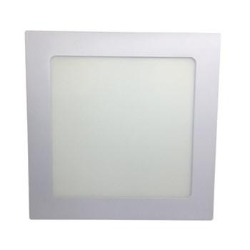 Luminária Led Painel Plafon Embutir 18W Quadrado 22x22cm Branco Frio