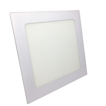Luminária Led Painel Plafon Embutir 18W Quadrado 22x22cm Branco Neutro