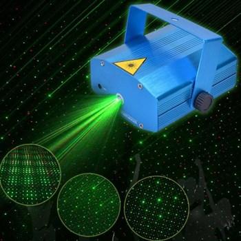 Mini Projetor Holográfico Laser Verde E Vermelho Bivolt com Sensor de Som Luatek Lk 173