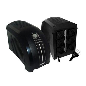Nobreak Ts Shara Ups Mini 600Va Bivolt 115/220V 6 Tomadas Black 4003