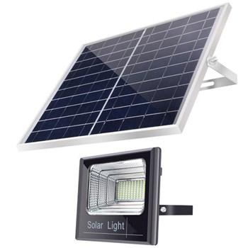 Refletor LED Solar 100W com Placa Solar e Bateria Interna