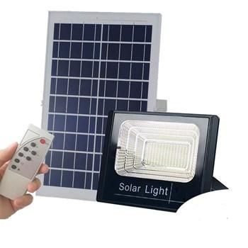 Refletor LED Solar 25W com Placa Solar e Bateria Interna