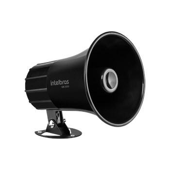 Sirene com Fio Intelbras 9 a 15 VDC/120 dB SIR 3000 Preta