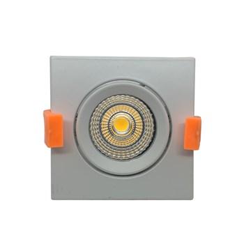 Spot LED COB Embutir 7W Direcionavel Quadrado Branco Frio
