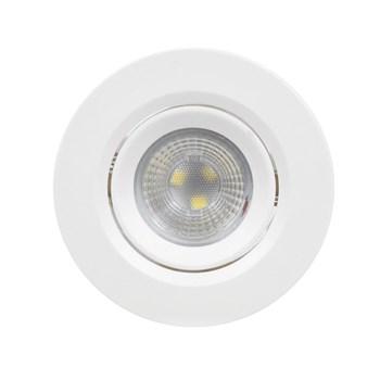 Spot LED Embutir 3W Direcionavel Redondo Branco Quente