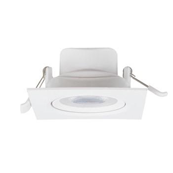 Spot LED Embutir 7W Direcionavel Quadrado Branco Frio