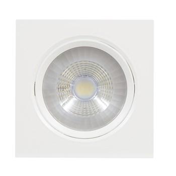 Spot LED Embutir 9W Direcionavel Quadrado Branco Frio