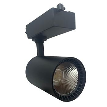 Spot LED Para Trilho 24W Branco Quente Bivolt Preto Andeli