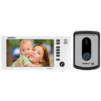 Vídeo Porteiro Colorido Intelbras Iv 7010 Hf Monitor Lcd 7 Viva Voz Branco