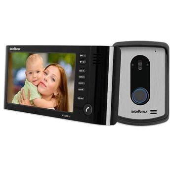 Vídeo Porteiro Colorido Intelbras Iv 7010 Hf Monitor Lcd 7 Viva Voz Preto
